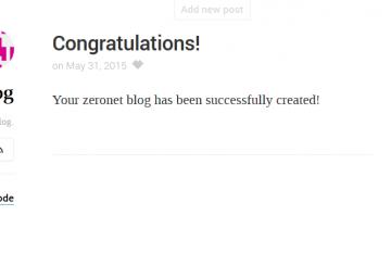 ZeroNet: Apriamo il nostro blog!