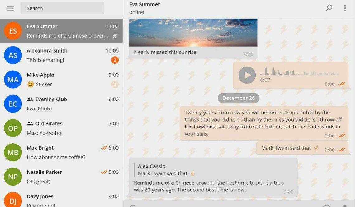 Telegram Desktop introduce i temi